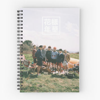 'bts - forever young ' Spiral Notebook by yeongwonhikpop