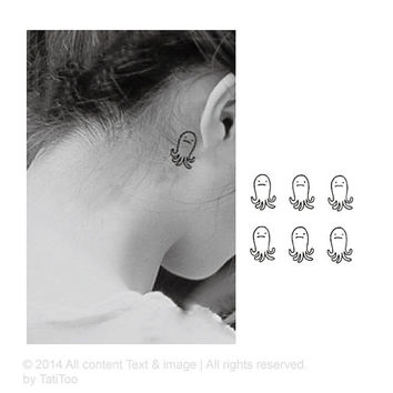 Octopus temporary tattoo - Temporary Tattoo T118