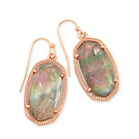 Dani Rose Gold Drop Earrings in Gray | Kendra Scott