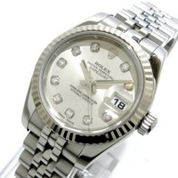 Auth ROLEX Datejust 179174G Silver, 18K White Gold D925426 Womens Wrist Watch