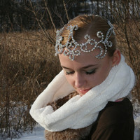 Professional Ballet Headpiece Tiara Ballerina Silver AB Crystals Dance Crown Head Piece Arabian Esmeralda