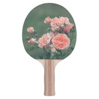 Beautiful pink roses. Add monogram. Ping Pong Paddle
