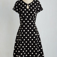 Pinup Long Short Sleeves A-line The Keyhole to Success Dress