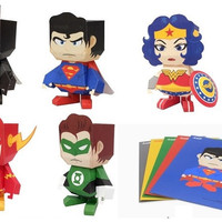 DC Comics Paper Toy Set of 5