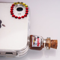Nutella Pluggy/ Phone/Iphone plug/ Headphone Jack/Plug by Siawlei