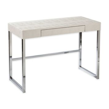 Southern Enterprises Vivienne Reptile Desk in Cream