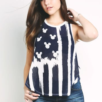 Mickey Mouse Pattern Tank