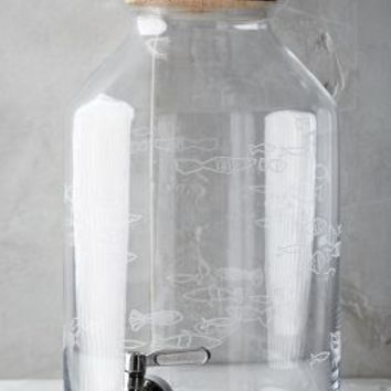 Tiny Fish Beverage Dispenser by Anthropologie in Clear Size: One Size Kitchen