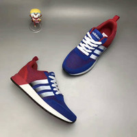 """Adidas NEO"" Fashion Casual Multicolor Stripe Knit Fly Line Surface Unisex Sneakers Couple Running Shoes"