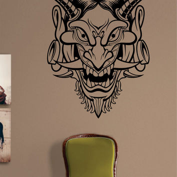 Hannya Version 2 Japanese Tattoo Design Decal Sticker Wall Vinyl Decor Art