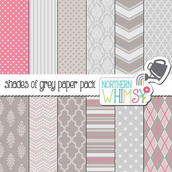 Shop Pink Chevron Digital Paper On Wanelo