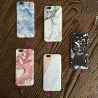 Precious Marble Stone Case for iPhone 5s 5se 6 6s Plus Gift 321