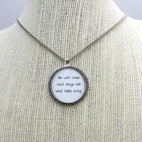 Florence and the Machine - No Light, No Light Inspired Lyrical Quote Pendant Necklace