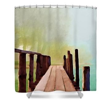 Peaceful Foggy Day Shower Curtain for Sale by Liane Wright