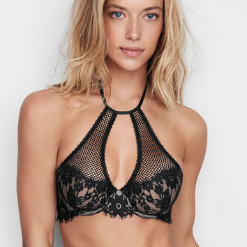 Floral Lace High-neck Demi Bra - Dream Angels - Victoria's Secret