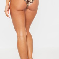 Leopard Mix & Match V Front Brazilian Bikini Bottom