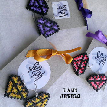 Earrings made of Hama Mini Beads - Damn Jewels (various)