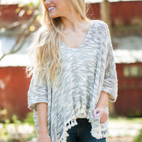 In A Tassel Top, Olive/White