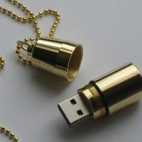 Antique Gold Plated 2 GB USB Flash Drive by TheCufflinkMaker