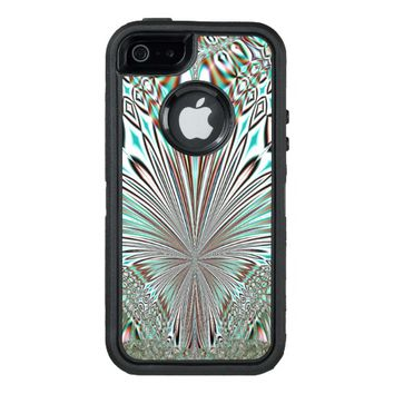 abstract crystal design OtterBox defender iPhone case
