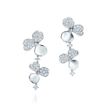 Tiffany & Co. - Tiffany Paper Flowers™:Diamond ClusterDrop Earrings