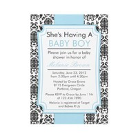 Elegant Damask Baby Shower Invite from Zazzle.com
