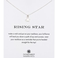 Sterling Silver Rising Star Charm Necklace