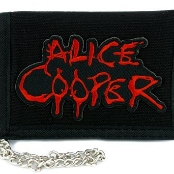 Alice Cooper Shock Rock Tri-fold Wallet Heavy Metal Clothing School's Out
