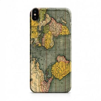 Old World Map Photo iPhone X case