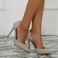 Lottie Lucite Pumps - Nude