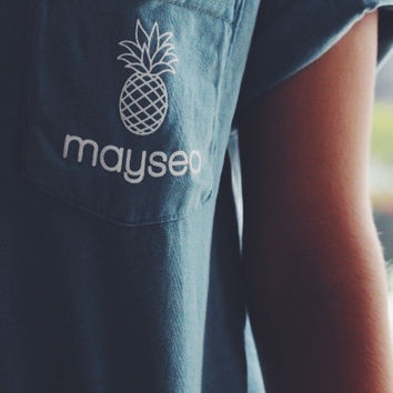 Maysea Icy Blue Pocket-Tee