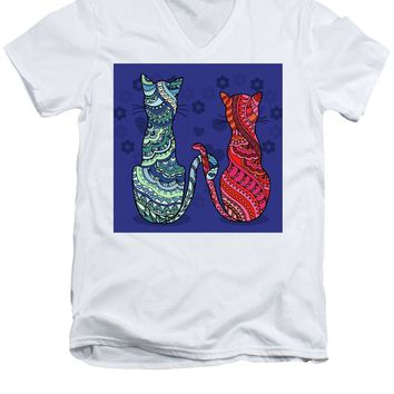 Cat Lovers - Men's V-Neck T-Shirt
