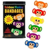 Rainbow Monkey Bandages - Gift & Party Supplies - Essentials