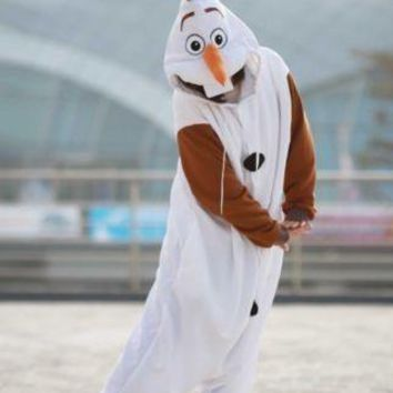 Anime Cosplay Snowman Cosplay Pajamas Adult Women Men Unisex Onesuit Party Costumes Halloween Baggy Dresses S M L XL