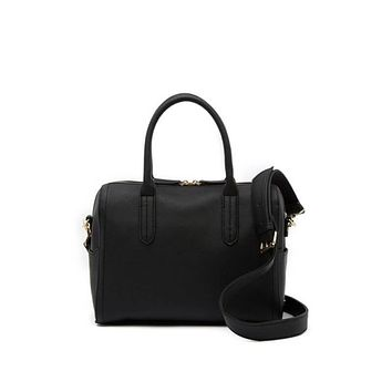 Steve Madden Black Boston Satchel