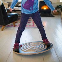 Labyrinth Wooden Balance Board - Bella Luna Toys