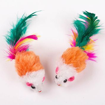Pet Cat Kitten Dog Multicolor Playing Toy False Mouse Rat Toys Drop Shipping 1 Piece Colors Randomly