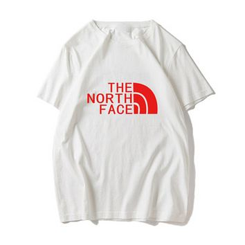 The North Face Summer New Fashion Bust Letter Print Women Men Top T-Shirt White