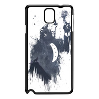 Wolf Song 3 Black Hard Plastic Case for Galaxy Note 3 by Balazs Solti