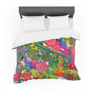 """Frederic Levy-Hadida """"Psychedelic Garden"""" Featherweight Duvet Cover"""