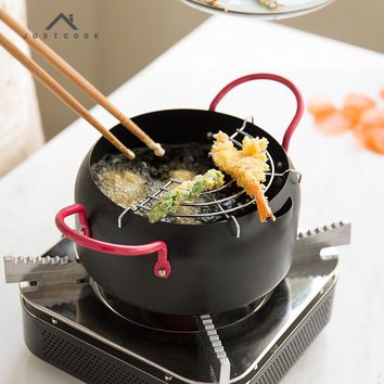 16/20/24 CM Frying Pan Creative Japanese Tempura Fryer