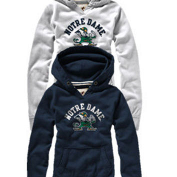 LEAGUE COLLEGIATE WEAR : University of Notre Dame Women's Hooded Sweatshirt : Hammes Notre Dame Bookstore : www.nd.bkstr.com