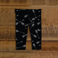 Black Arrow Baby Leggings