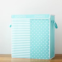 Dual Compartment Hamper, Preppy Stripe + Dot