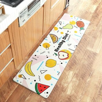 Autumn Fall welcome door mat doormat PVC Wear Resistant Floor s Long Out Carpet Bathroom Rugs For Kitchen Waterproof Foot Cushion Home Tapete  AT_76_7