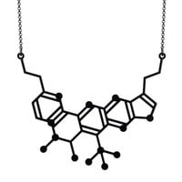 Neurotransmitter Molecule Necklace – Aroha Silhouettes