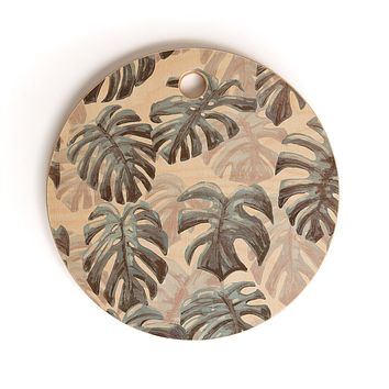 Dash and Ash Palm Springs Blues Cutting Board Round