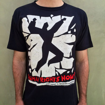 Vtg 1988 Reebok Sports Human Rights Now World Tour Shirt