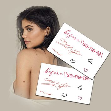 Kylie Jenner Temporary Tattoos Set of Two