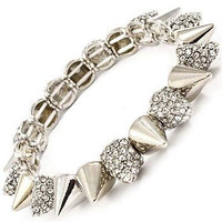 Rhinestone Spiked Stretch Bracelet | Avant-Garde Boutique